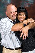 Interracial Couple, Family Portrait