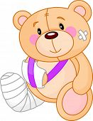 Very cute Sick Teddy Bear. Get well