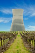 Cooling Tower Of The Now Closed Rancho Seca Nuclear Power Station