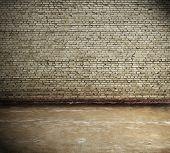 old interior, brick wall