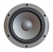 modern hi-fi sound speaker isolated on white background