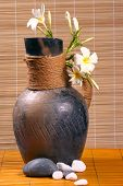 Ancient Vase With Rattan poster