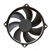 computer fan isolated on white background with clipping path