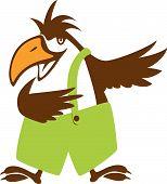 ilustração de symbol.vector de pássaro funy
