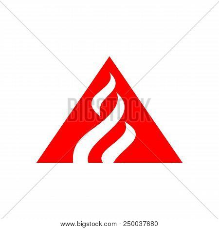 Flame Logo Vector Template  Fire Logo Design Graphic  Torch Logo Design  Element  Hot Fire Icon  Gas poster