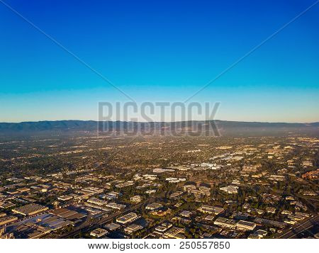 Aerial View On Silicon Valley
