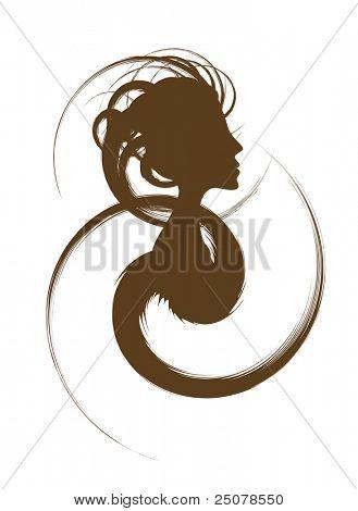 """Hair Design Logo a€"""" Female"""