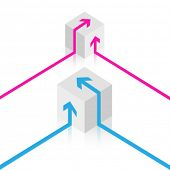 Vector cube design