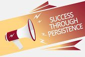 Conceptual Hand Writing Showing Success Through Persistence. Business Photo Text Never Give Up In Or poster