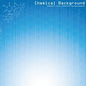 Chemical background. Vector.