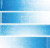 Architectural banners. Vector.