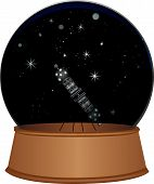 Glass Sphere With A Starry Sky And A Projector For A Planetarium poster