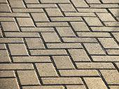 Background Masonry Brick Path Diagonal Pattern House poster