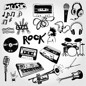 stock photo of pop star  - Some Music Doodles - JPG