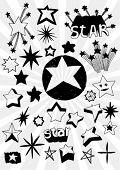 Many Doodled Stars