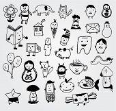 Algumas criaturas Doodled