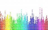 mosaico de arco iris del vector