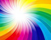 fondo del concepto de arco iris