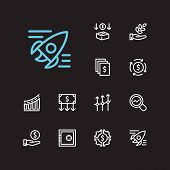 Economy Icons Set. Hand Money And Economy Icons With Agriculture Investment, Investment Services And poster
