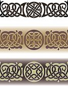 Tattoo pattern made in the traditional Celtic style with knots and loops. Seamless vector illustrati