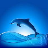 Vektor Dolphin. Datei enthält Farbverlauf Masche