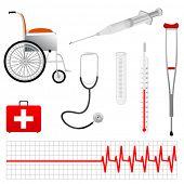 Vector herramientas médicas Eps 8