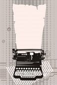typewriter.Vector illustration.