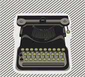 máquina de escrever-objeto - vetor