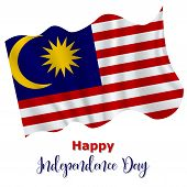 31 August, Malaysia Independence Day Background In National Flag Color Theme. Gabon National Day. Ce poster