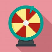 Fortune Wheel Icon. Flat Illustration Of Fortune Wheel Vector Icon For Web Design poster