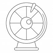 Fortune Wheel Icon. Outline Fortune Wheel Vector Icon For Web Design Isolated On White Background poster
