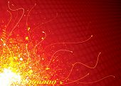 Futuristic Exploding Background, vector illustration layers file.