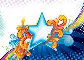 Elegance Star Shape, vector illustration layered file.
