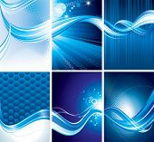 Vector illustration of Technology backgrounds collection.