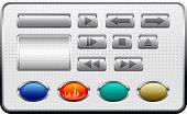 vector metal buttons