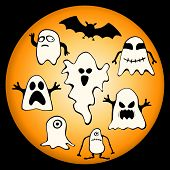 vector collection of halloween ghosts