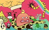 psychedelische Postkarte