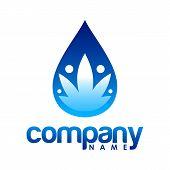 Water Logo. Blue Water Logo. Water Best Logo. Aqua Logo. Bright Water Logo. poster