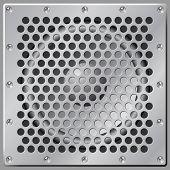 Loudspeaker behind grill
