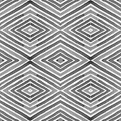 Black And White- Geometric Watercolor. Actual Seamless Pattern. Hand Drawn Stripes. Brush Texture. S poster