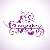 Floral vector frame with place for your message