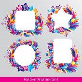 Colorido festivos marcos para su diseño