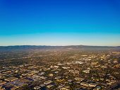 Aerial View On Silicon Valley, California, One Of The Well Known High Tech Centers. poster