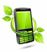 picture of mobile-phone  - Green eco phone - JPG