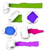 picture of turn-up  - Collection of colored paper - JPG