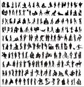 big collection of vector silhouettes of people (part 2)