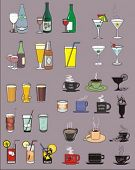 vector illustration of various beverages