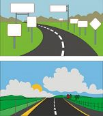 road in the countryside - vector based illustrations