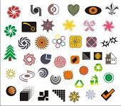 a set of various vector symbols and logos
