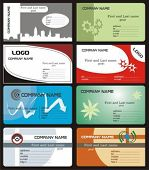 stylish business cards - vector design (fully editable)